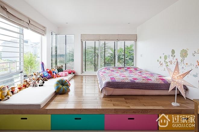 白色现代180平别墅欣赏卧室陈设