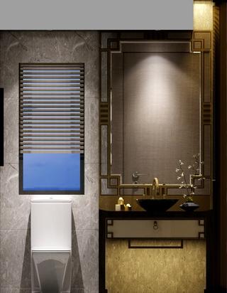 雅致新中式案例住宅欣赏卫生间车上呢