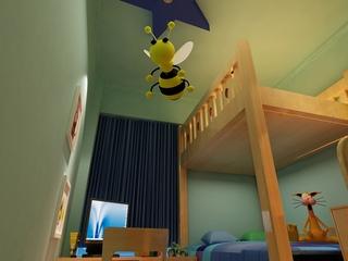113平简约三室两厅欣赏儿童房设计