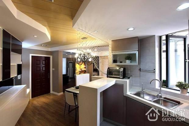 摩登客厅吊顶装修效果图 简约个性公寓