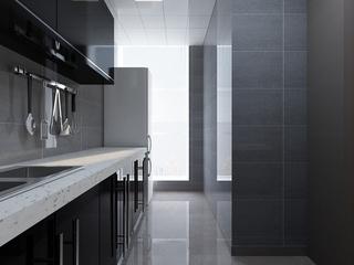 112平简约三居效果图欣赏厨房