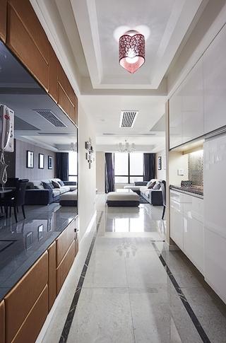 108平现代舒适三居欣赏过道设计