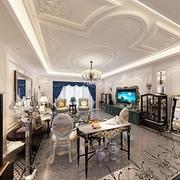 法式贵气样板间欣赏客厅陈设
