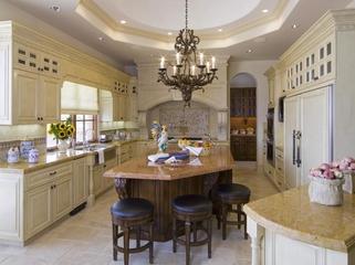 豪华法式风格装饰套图开放厨房