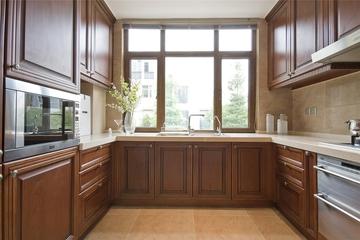 中式風格廚房窗戶效果圖