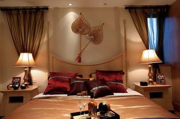 98平东南亚风格住宅欣赏卧室
