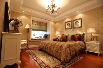 128平奢华欧式住宅欣赏卧室陈设