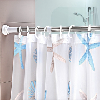 伸缩浴帘杆的安装方法及安装调节