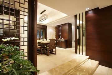 唯美中式风格餐厅效果图
