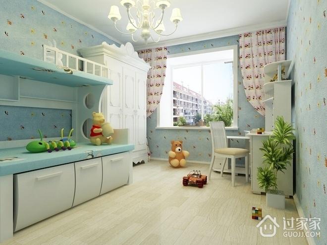 奢华欧式住宅欣赏儿童房窗户
