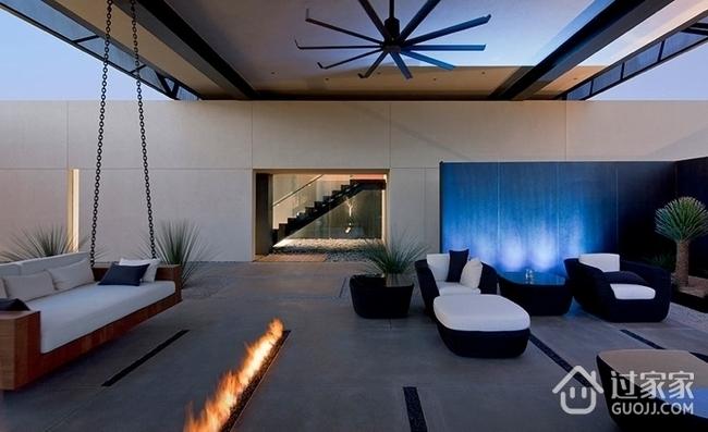 现代230平舒适别墅欣赏庭院