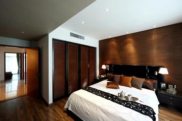 145平米简约复式效果图欣赏卧室