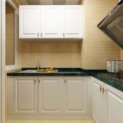 厨房奶白色橱柜装修效果图 回归简单生活