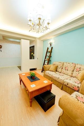72平蓝色田园住宅欣赏客厅