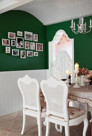 110平田园风格三居室欣赏餐厅设计