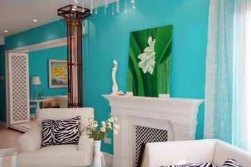 蓝色海湾现代住宅欣赏背景墙