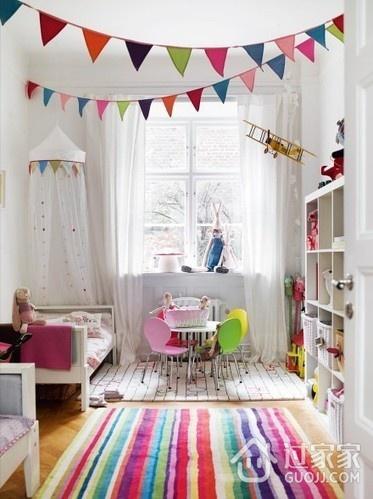 69平简约两居案例欣赏儿童房书架