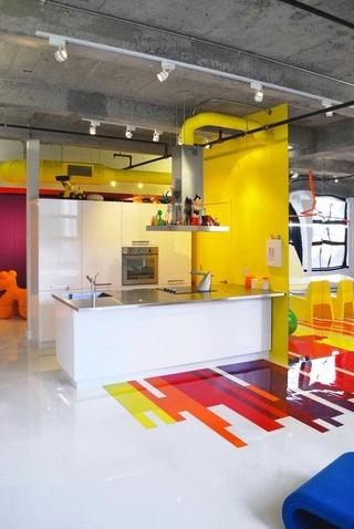 当代艺术彩色住宅欣赏厨房设计