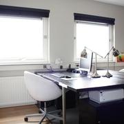 现代黑白灰别墅套图书房设计