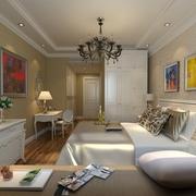 79平简约两居住宅案例欣赏卧室衣柜
