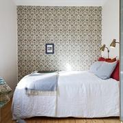 白色北欧小两居住宅欣赏卧室窗帘