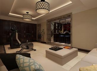 新古典大四居住宅欣赏客厅吊顶设计
