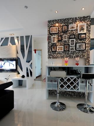 99平现代风三居欣赏餐厅吧台设计