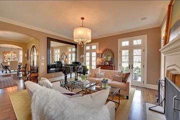 美式风格别墅客厅装修设计效果图