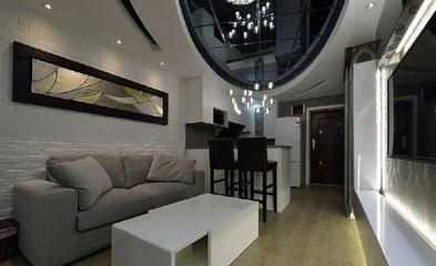 82平现代三居室温馨之家客厅背景墙设计