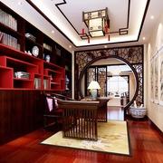 新中式风格书房灯饰效果图 打造梦想三口之家