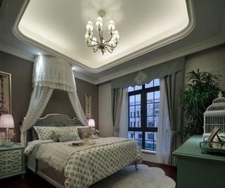 白色尊贵欧式住宅欣赏卧室