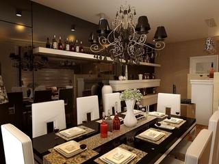 暖色新古典三居欣赏餐厅