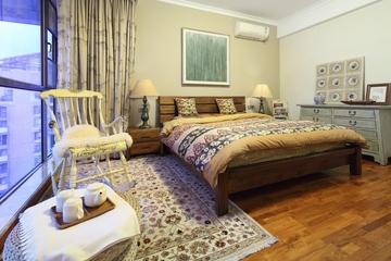 东南亚风格三居室欣赏卧室窗帘