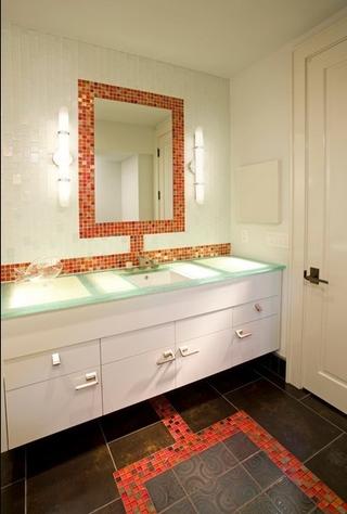 美式温馨度假别墅欣赏洗手间