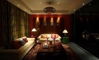 雅致中式住宅欣赏客厅全景设计