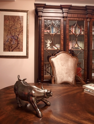 130平美式四室两厅欣赏书房设计