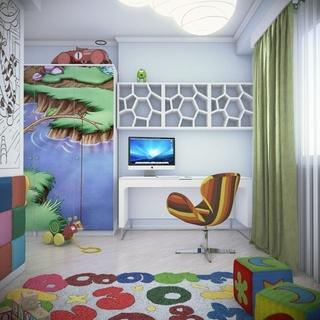 简约120平梦幻住宅欣赏儿童房