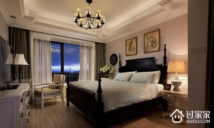 美式卧室窗帘装饰效果图 清新潮流来袭