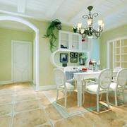 绿色清新客厅灯饰效果图 打造美好家居