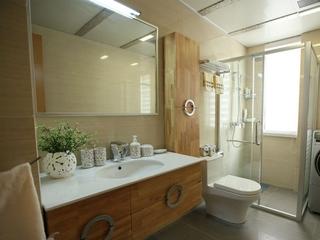 时尚简约一室一厅欣赏卫生间
