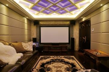 欧式风格复式楼视听室效果图设计