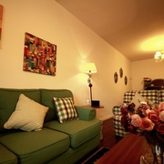 美式风格客厅沙发摆放图 90后个性家