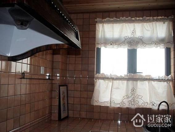 厨房窗户自己做的窗帘