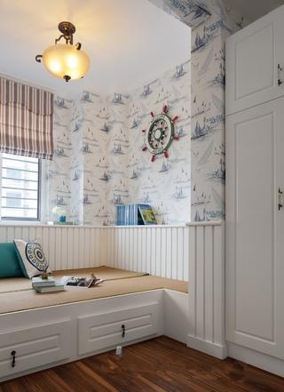 青色混搭住宅欣赏书房设计