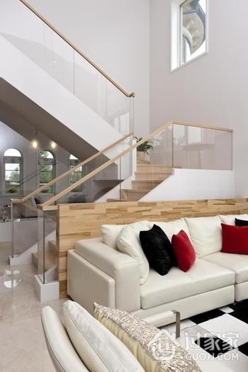 248平白色现代别墅欣赏客厅陈设