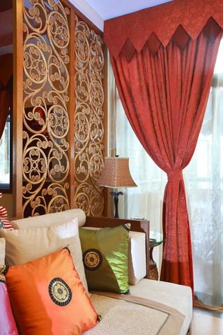 绚丽色彩东南亚住宅欣赏客厅局部设计