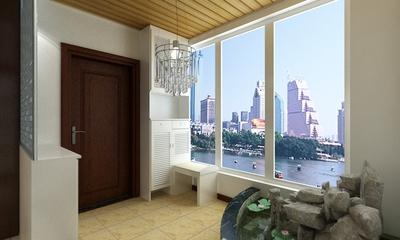 100平简约三室两厅案例欣赏玄关鞋柜
