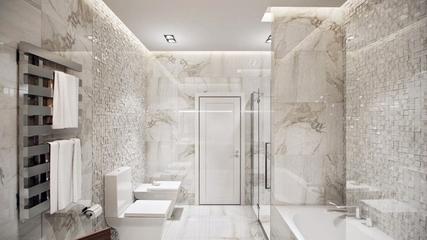 充满质感的简约公寓欣赏卫生间