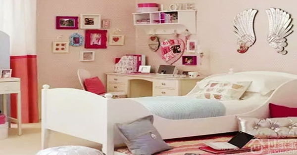 粉色公主系卧室装修效果图粉粉哒 没想到你是这样的卧室