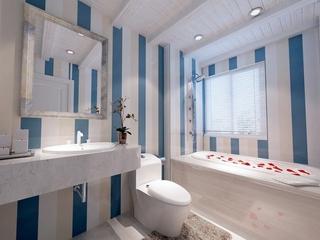 蓝色地中海住宅欣赏卫生间